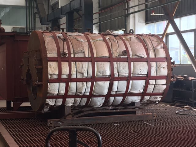Boiler Insulation With Steel Guards Manufacturing