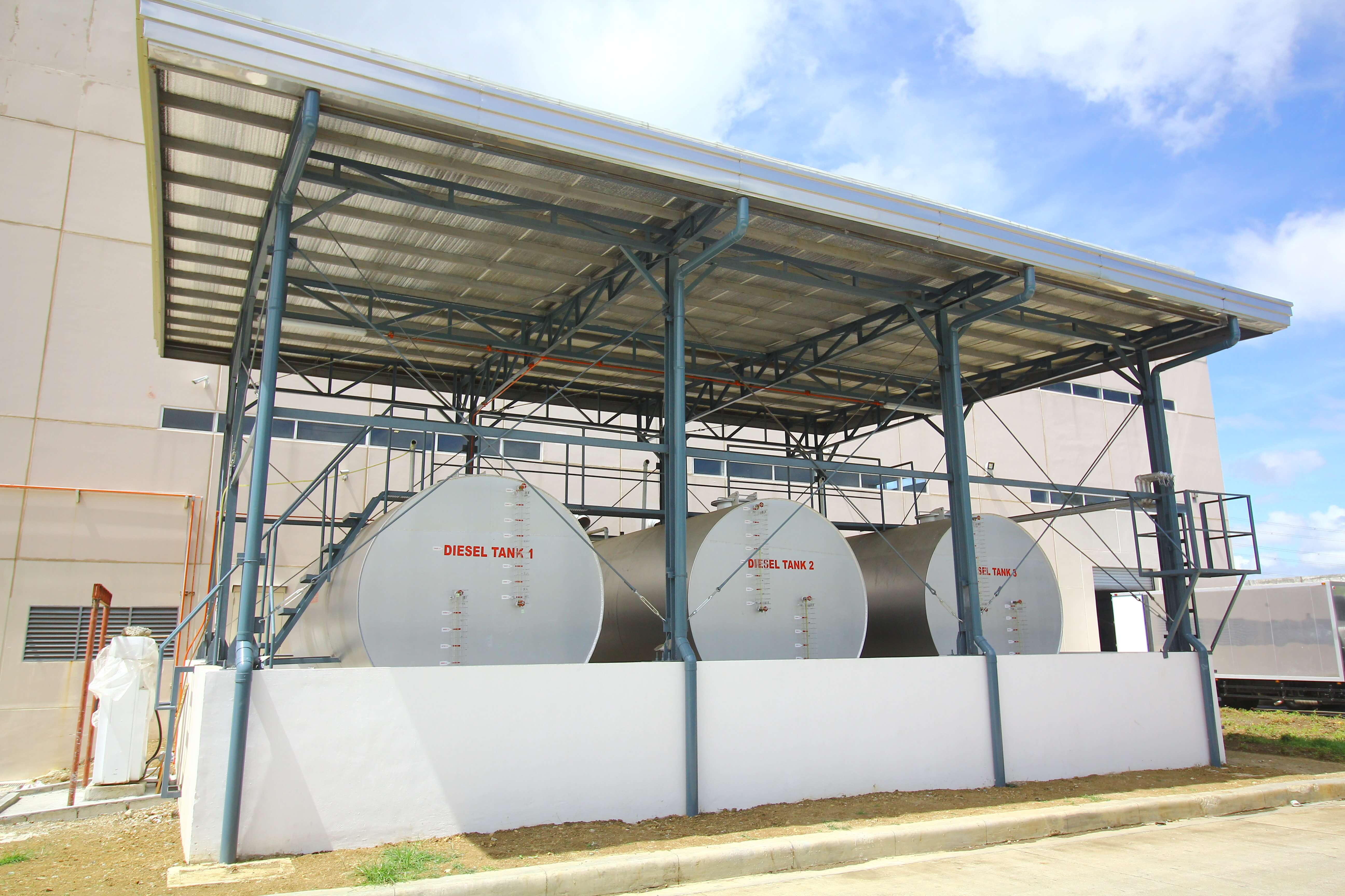Fuel House With 3 X 25000L Diesel Tank Civil Works Project