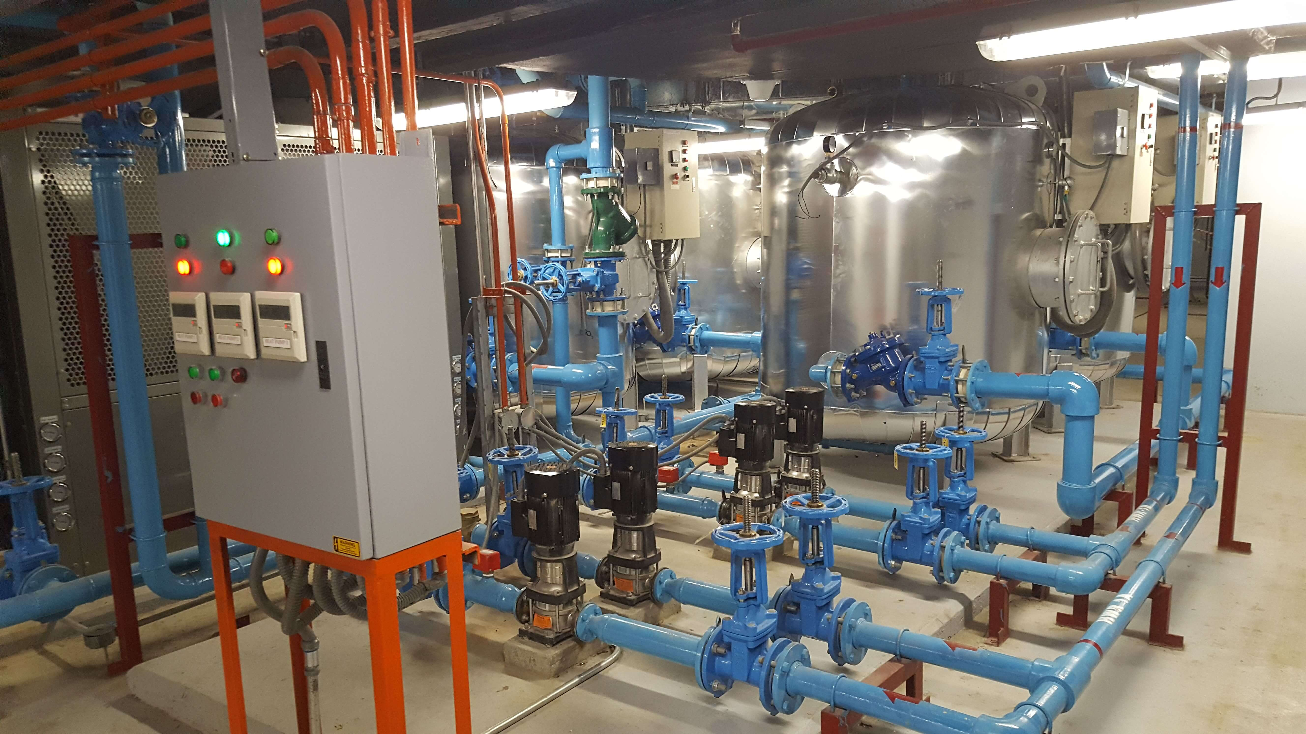 Heat Pump, Calorifier And Piping Works Project